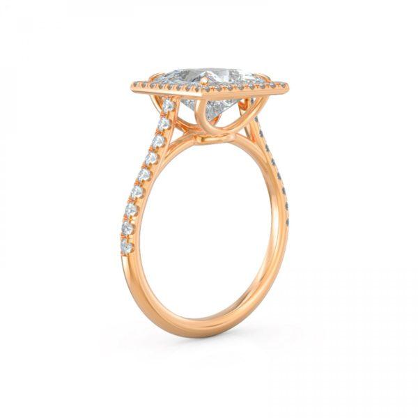 Square Princess Engagement Diamond Halo Ring .40 CTW