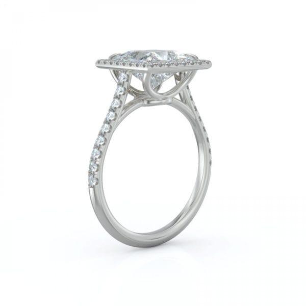 Square Engagement Diamond Halo Ring .40 CTW
