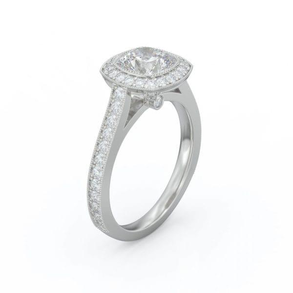 Cushion Engagement Diamond Halo Ring .56CTW