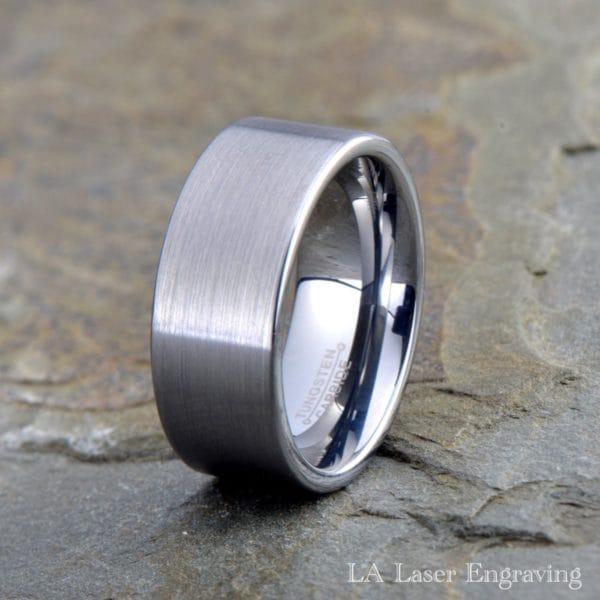 8mm Brushed Tungsten Carbide Wedding Band