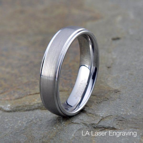 brushed tungsten wedding bands 6mm