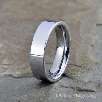 polished tungsten wedding band 6mm