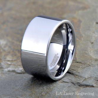 tungsten wedding polished band 12mm